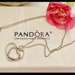 Pandora doble heart Sterling Silver